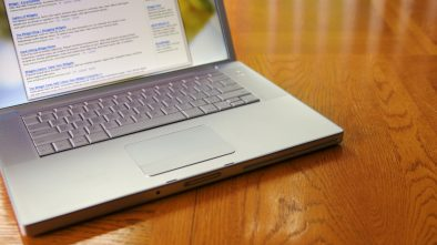 A laptop with search results and paid advertisements used as a means of patient acquisition.