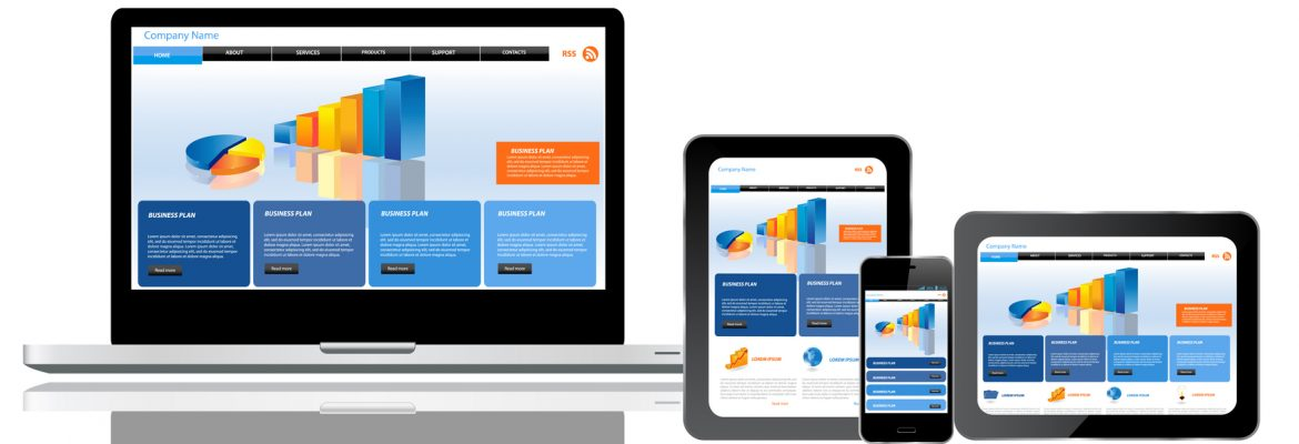 A responsive website template on multiple devices, targeting health consumers.