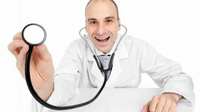 A doctor makes a silly face to reach his patients but is keeping it subtle